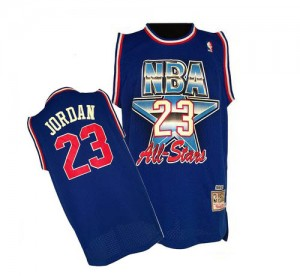 Maillot NBA Swingman Michael Jordan #23 Chicago Bulls 1992 All Star Throwback Bleu - Homme