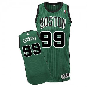 Maillot NBA Authentic Jae Crowder #99 Boston Celtics Alternate Vert (No. noir) - Homme