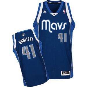 Dallas Mavericks #41 Adidas Alternate Bleu marin Swingman Maillot d'équipe de NBA boutique en ligne - Dirk Nowitzki pour Homme