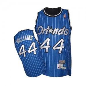 Maillot NBA Orlando Magic #44 Jason Williams Bleu royal Mitchell and Ness Authentic Throwback - Homme
