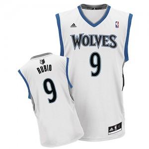 Maillot Swingman Minnesota Timberwolves NBA Home Blanc - #9 Ricky Rubio - Homme
