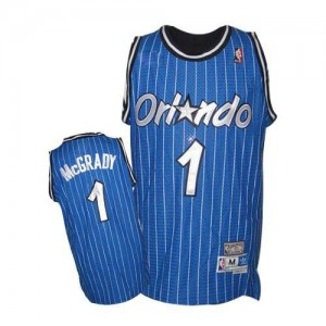 Maillot Authentic Orlando Magic NBA Throwback Bleu royal - #1 Tracy Mcgrady - Homme