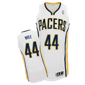 Maillot Authentic Indiana Pacers NBA Home Blanc - #44 Solomon Hill - Homme