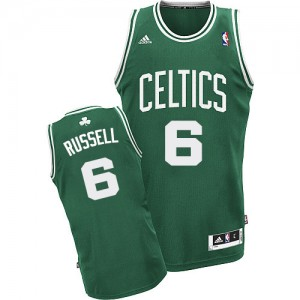 Maillot Adidas Vert (No Blanc) Road Swingman Boston Celtics - Bill Russell #6 - Homme