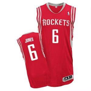 Maillot NBA Houston Rockets #6 Terrence Jones Rouge Adidas Authentic Road - Homme