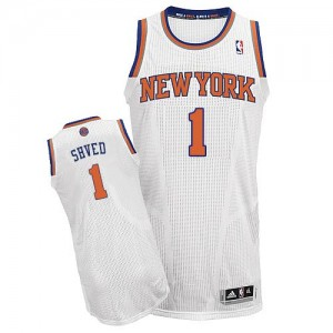 New York Knicks Alexey Shved #1 Home Authentic Maillot d'équipe de NBA - Blanc pour Homme