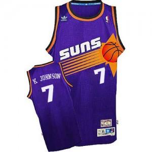 Phoenix Suns #7 Adidas Throwback Violet Swingman Maillot d'équipe de NBA prix d'usine en ligne - Kevin Johnson pour Homme