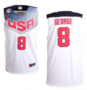 Maillots de basket Swingman Team USA NBA 2014 Dream Team Blanc - #8 Paul George - Homme
