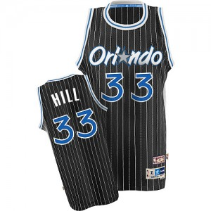 Maillot NBA Authentic Grant Hill #33 Orlando Magic Throwback Noir - Homme