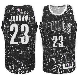 Chicago Bulls Michael Jordan #23 City Light Swingman Maillot d'équipe de NBA - Noir pour Homme