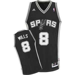 San Antonio Spurs #8 Adidas Road Noir Swingman Maillot d'équipe de NBA Prix d'usine - Patty Mills pour Homme