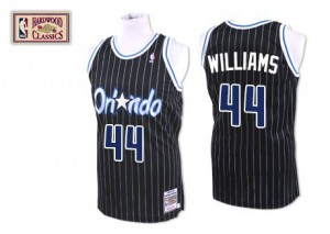 Maillot NBA Orlando Magic #44 Jason Williams Noir Mitchell and Ness Authentic Throwback - Homme
