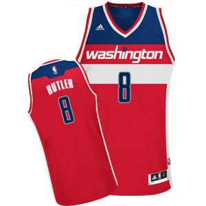 Maillot Adidas Rouge Road Swingman Washington Wizards - Rasual Butler #8 - Homme