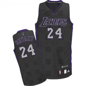 Maillot Adidas Noir Rhythm Fashion Authentic Los Angeles Lakers - Kobe Bryant #24 - Homme