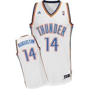 Maillot Adidas Blanc Home Swingman Oklahoma City Thunder - D.J. Augustin #14 - Homme