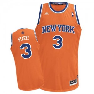 Maillot NBA New York Knicks #3 John Starks Orange Adidas Swingman Alternate - Homme