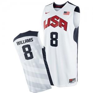 Maillot NBA Blanc Deron Williams #8 Team USA 2012 Olympics Swingman Homme Nike