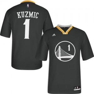 Maillot Adidas Noir Alternate Authentic Golden State Warriors - Ognjen Kuzmic #1 - Homme