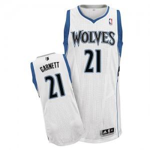 Maillot NBA Minnesota Timberwolves #21 Kevin Garnett Blanc Adidas Authentic Home - Homme