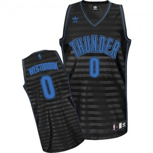 Maillot Swingman Oklahoma City Thunder NBA Groove Gris noir - #0 Russell Westbrook - Homme