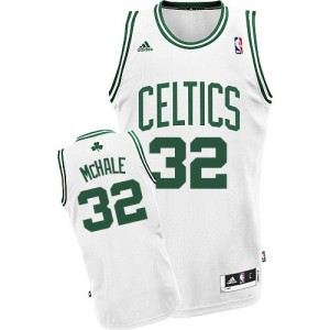 Maillot NBA Boston Celtics #32 Kevin Mchale Vert (No Blanc) Adidas Swingman Road - Homme