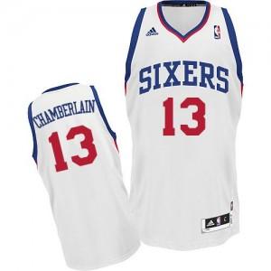 Maillot NBA Swingman Wilt Chamberlain #13 Philadelphia 76ers Home Blanc - Homme