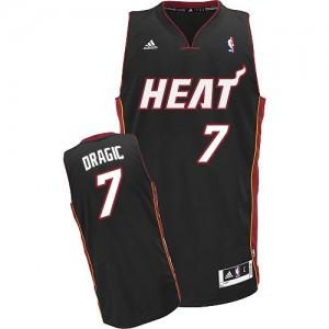 Miami Heat #7 Adidas Road Noir Swingman Maillot d'équipe de NBA préférentiel - Goran Dragic pour Homme