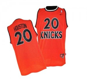 New York Knicks Nike Allan Houston #20 Throwback Authentic Maillot d'équipe de NBA - Orange pour Homme