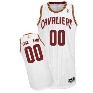 Maillot NBA Cleveland Cavaliers Personnalisé Authentic Blanc Adidas Home - Homme