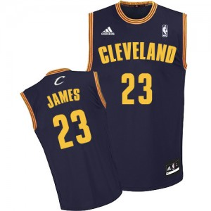 Maillot Swingman Cleveland Cavaliers NBA Throwback Bleu marin - #23 LeBron James - Homme