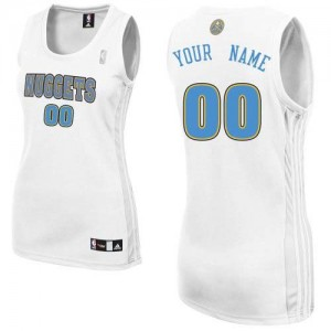Maillot NBA Blanc Authentic Personnalisé Denver Nuggets Home Femme Adidas