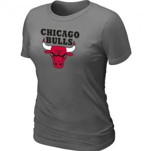 Chicago Bulls Big & Tall Gris foncé T-Shirts d'équipe de NBA magasin d'usine - pour Femme