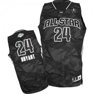 Maillot Adidas Noir 2013 All Star Authentic Los Angeles Lakers - Kobe Bryant #24 - Homme