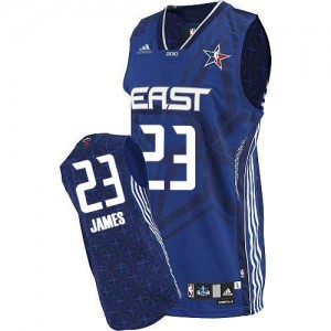 Maillot NBA Authentic LeBron James #23 Cleveland Cavaliers 2010 All Star Bleu - Homme