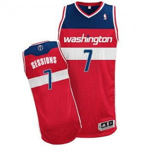 Maillot Adidas Rouge Road Authentic Washington Wizards - Ramon Sessions #7 - Homme