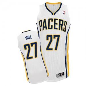 Indiana Pacers #27 Adidas Home Blanc Authentic Maillot d'équipe de NBA boutique en ligne - Jordan Hill pour Homme
