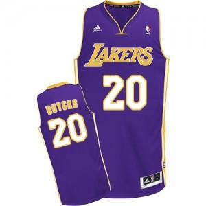 Los Angeles Lakers #20 Adidas Road Violet Swingman Maillot d'équipe de NBA vente en ligne - Dwight Buycks pour Homme