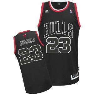 Chicago Bulls Michael Jordan #23 Shadow Swingman Maillot d'équipe de NBA - Noir pour Homme