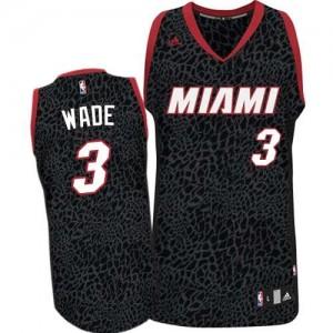 Maillot Adidas Noir Crazy Light Authentic Miami Heat - Dwyane Wade #3 - Homme