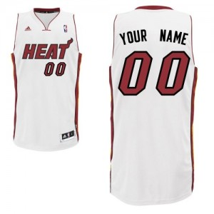 Maillot Miami Heat NBA Home Blanc - Personnalisé Swingman - Homme