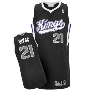 Maillot NBA Noir Vlade Divac #21 Sacramento Kings Alternate Authentic Homme Adidas