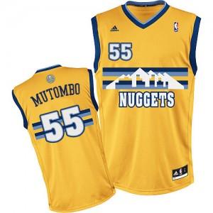 Maillot NBA Swingman Dikembe Mutombo #55 Denver Nuggets Alternate Or - Homme