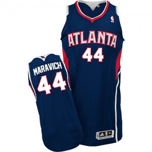 Maillot Authentic Atlanta Hawks NBA Road Bleu marin - #44 Pete Maravich - Homme