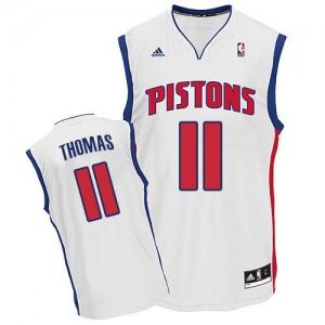Detroit Pistons Isiah Thomas #11 Home Swingman Maillot d'équipe de NBA - Blanc pour Homme