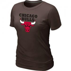 Chicago Bulls Big & Tall marron T-Shirts d'équipe de NBA prix d'usine en ligne - pour Femme