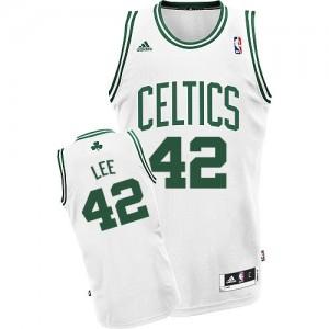 Boston Celtics David Lee #42 Home Swingman Maillot d'équipe de NBA - Blanc pour Homme