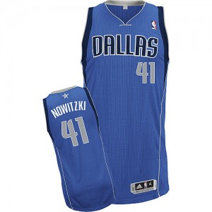 Maillot Authentic Dallas Mavericks NBA Road Bleu royal - #41 Dirk Nowitzki - Enfants