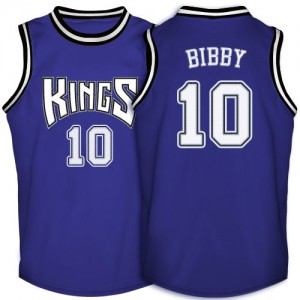 Maillot NBA Sacramento Kings #10 Mike Bibby Violet Adidas Authentic Throwback - Homme