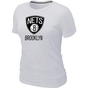 Brooklyn Nets Big & Tall Blanc T-Shirts d'équipe de NBA Le meilleur cadeau - pour Femme