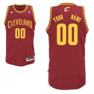 Maillot NBA Cleveland Cavaliers Personnalisé Swingman Vin Rouge Adidas Road - Homme